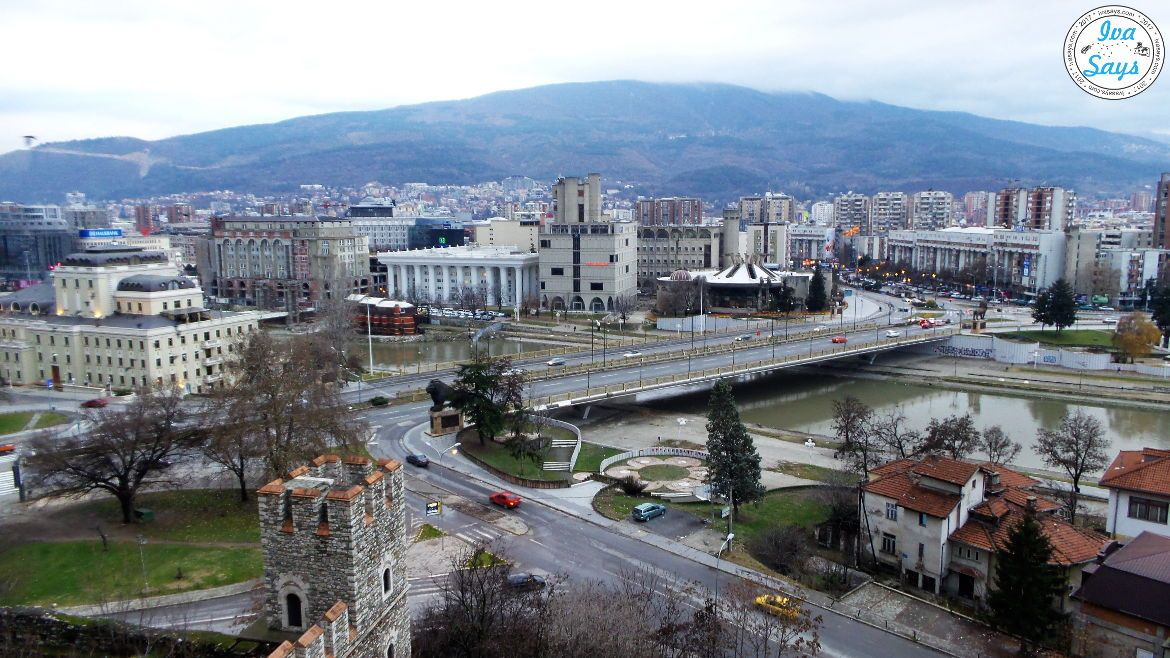 Skopje from Tvrdina Kale Fortress in North Macedonia.