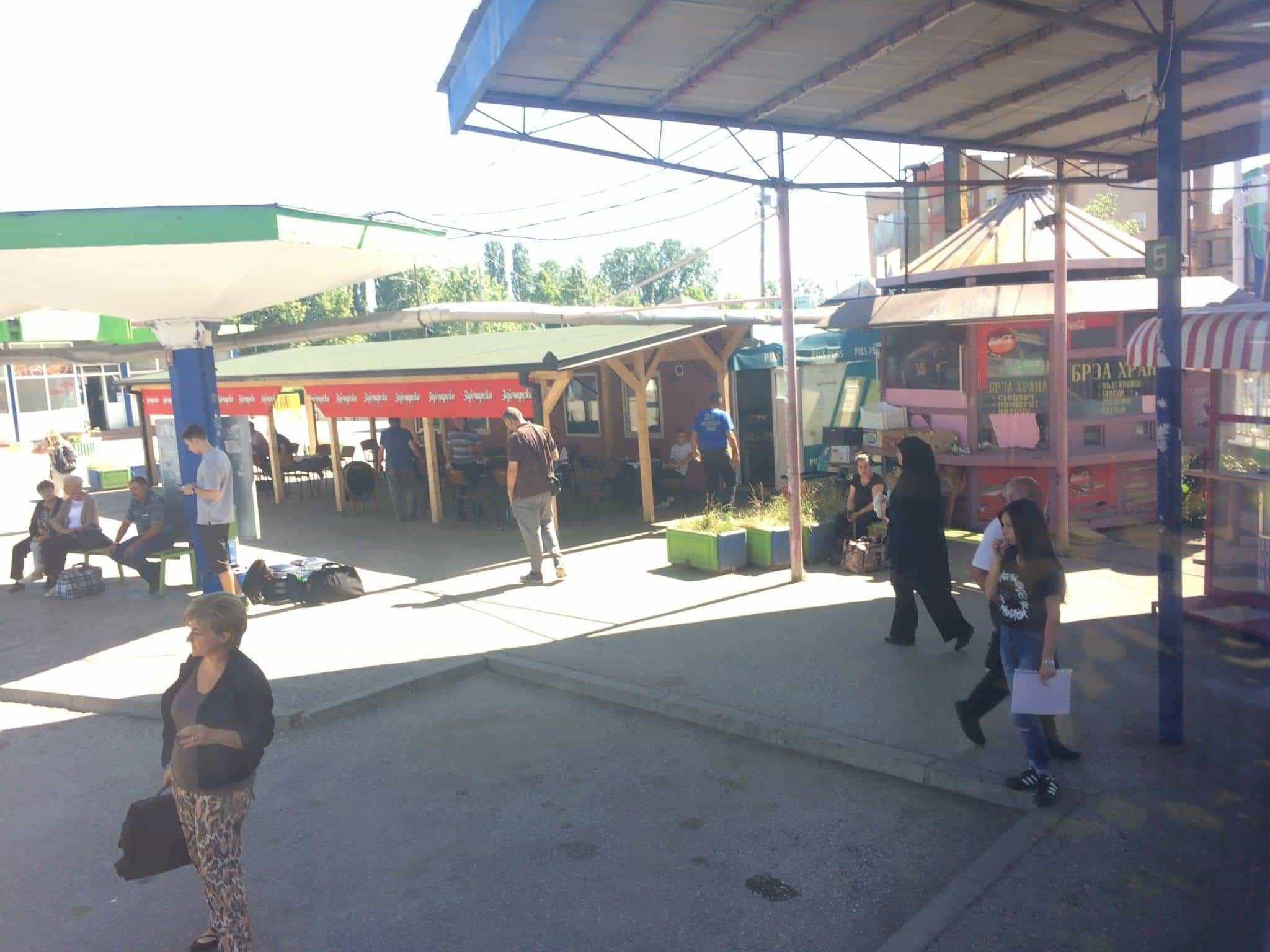 Bus station in Vranje, Serbia