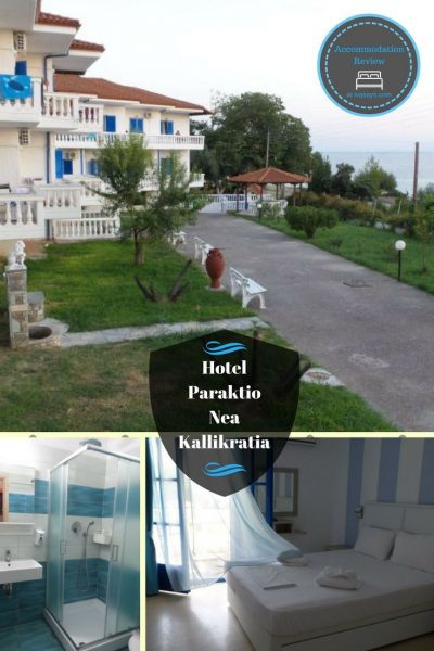 Hotel Paraktio in Nea Kallikratia, Greece offers great accommodation for the price, with good Wi-Fi signal, kitchen, modern furniture, and most importantly of all unforgettable sunsets - Iva Says