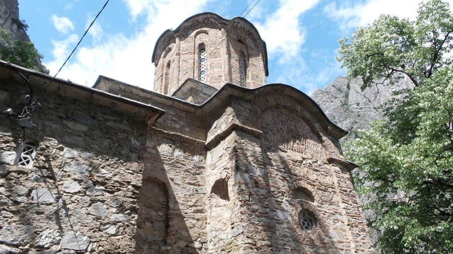 Saint Andrew church at Lake Matka in North Macedonia.