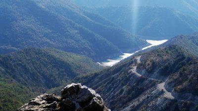 Standing on the edge at Kozjak