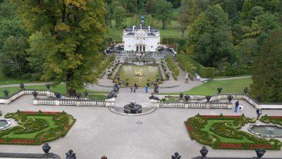 View from Temple of Venus Linderhof Bavarian Castles