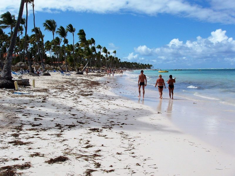 Strolling along the beach in punta cana