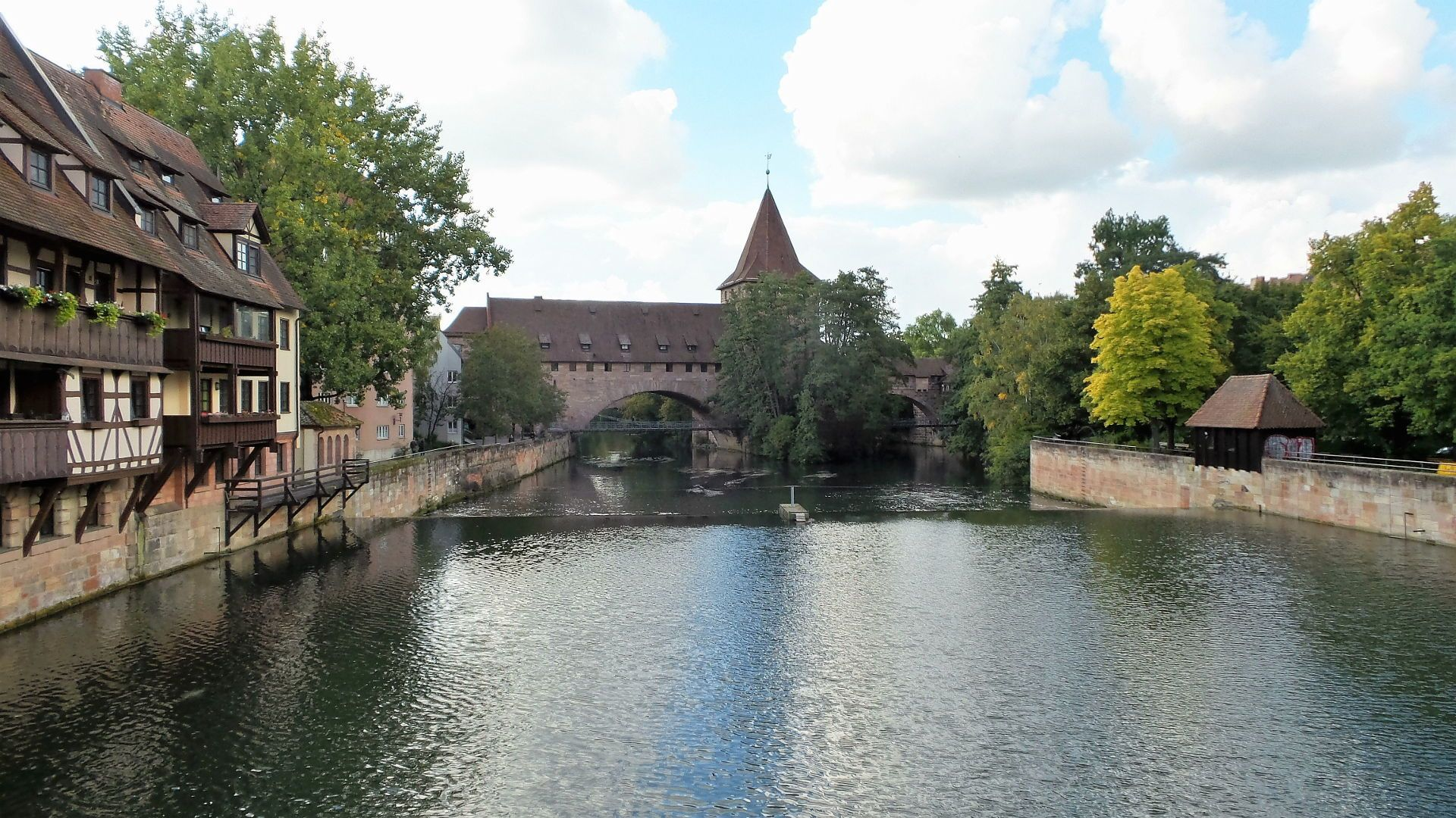 Kettensteg in Nuremberg Germany