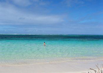 Entering the ocean in Punta Cana