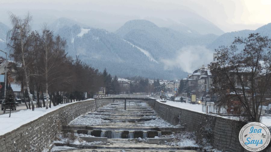 Glazne River in Bansko, Bulgaria