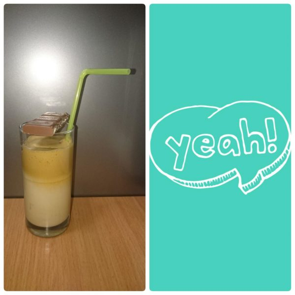 Completed Frape, served with a straw - Iva Says