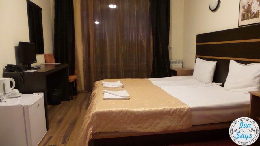 The hotel room at St. George Ski and Spa Hotel in Bansko, Bulgaria