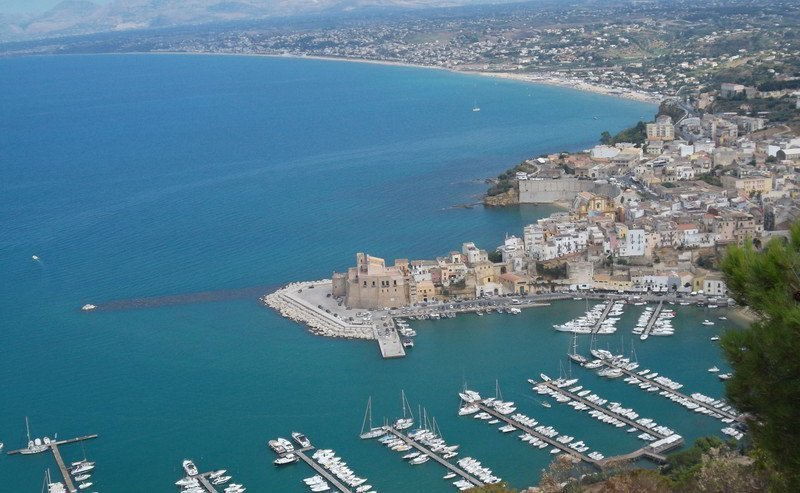 View of Castellammare del Golfo in Sicily.