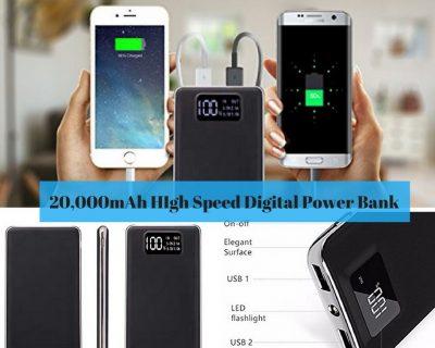 20,000mAh High-Speed Digital Power Bankfrom Amazon.com
