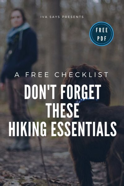 Free Hiking Essentials Checklist image for Pinterest