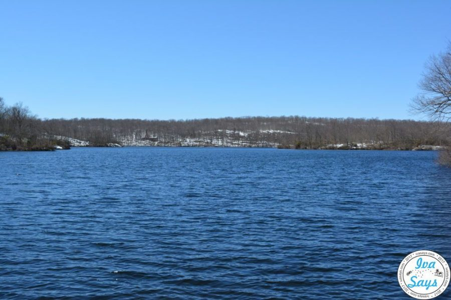The body of water of Lake Ramapo in Ramapo Mountain State Forest, NJ.