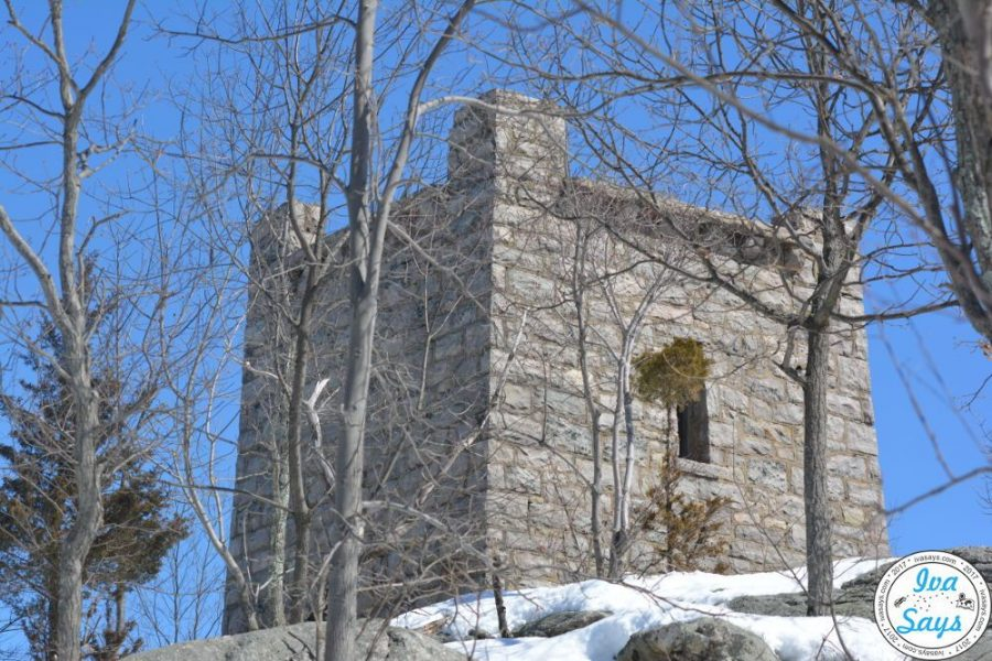 Water Tower and its ruins by the Van Slyke Castle in New Jersey.