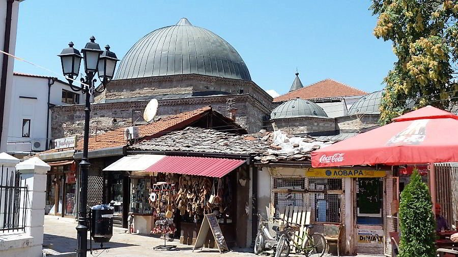 The Chifte Hamam - part of the national gallery of Macedonia - in the old Bazaar in Skopje.