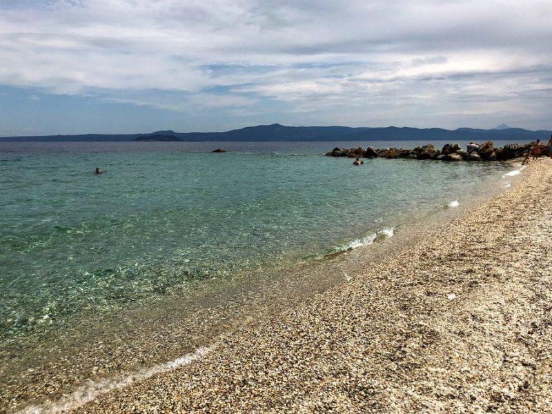 Glarokavos Beach in the Greece mainland.