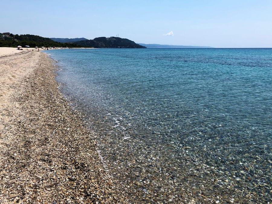 Possidi Cape - a wide, sandy beach that is a hidden gem in mainland of Greece in Kassandra.