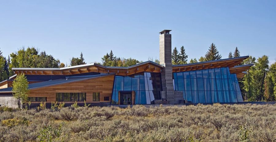 Visitor Center of Grand Teton National Park in Wyoming.