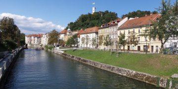 Buildings along the Ljubljanica River.