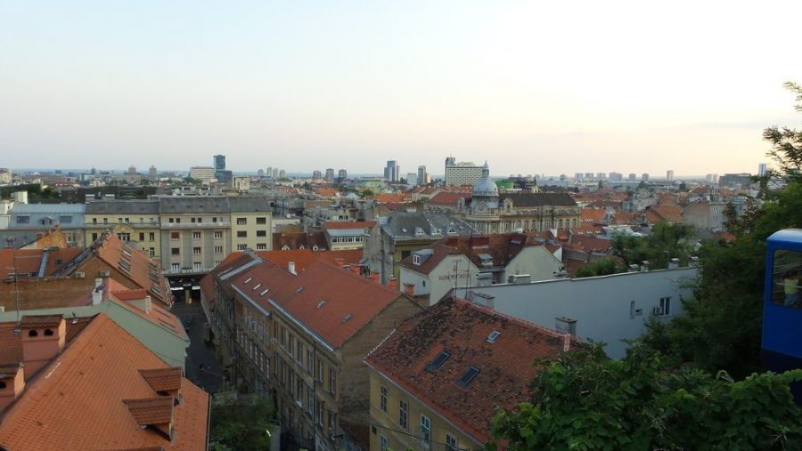 Panoramic view of Zagreb.