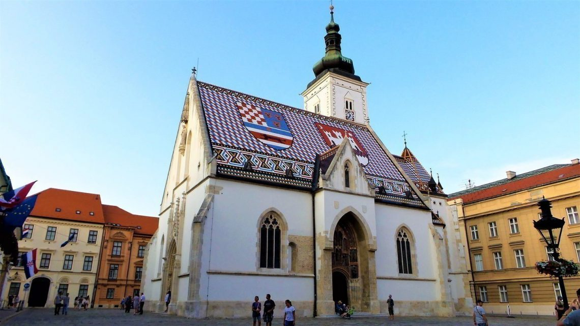 St. Mark's Church in Zagreb, Croatia.