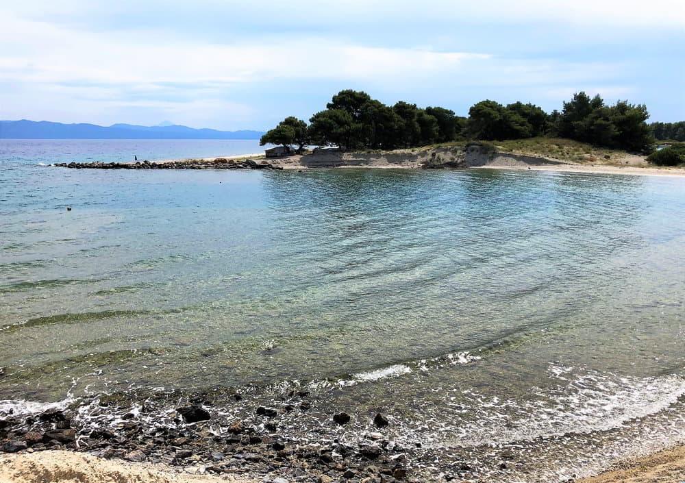 Entrance to the marina at the Glarokavos Bay in Greece.