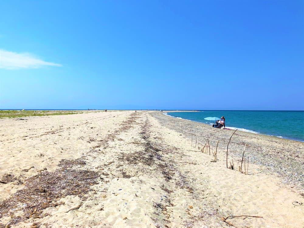 Possidi beach in Kassandra, Greece.