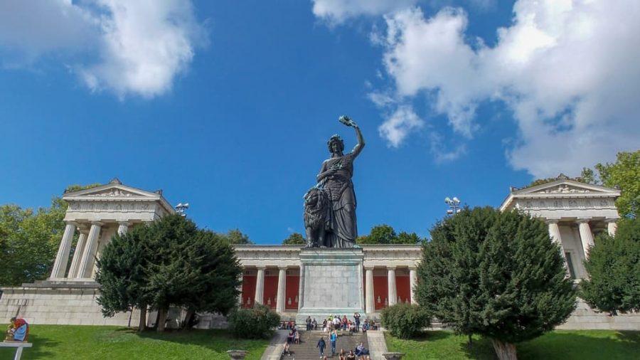 Bavaria Statue in Munich, Germany.