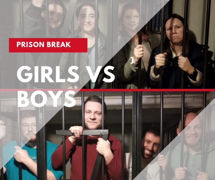 Girls vs boys prison break escape room competition skopje