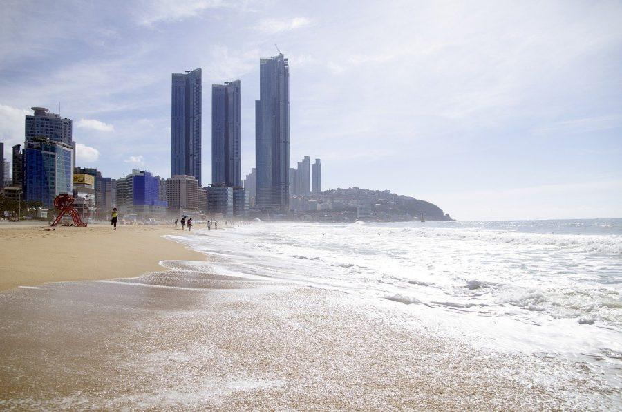 Haeunda Beach in Busan, Korea.