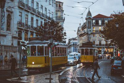 A train in Lison, Portugal