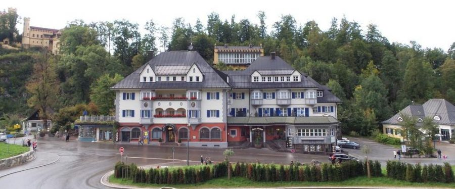 Hotel made of old wooden German architecture.