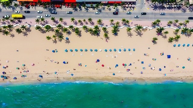 Fort Lauderdale, Florida Sea from Above.