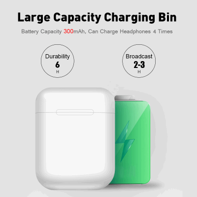 Large capacity charging case for the wireless earpods on Iva Says