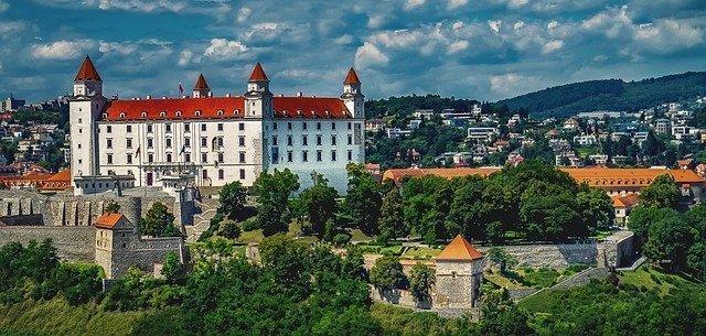Castle in Bratilava, Slovakia.