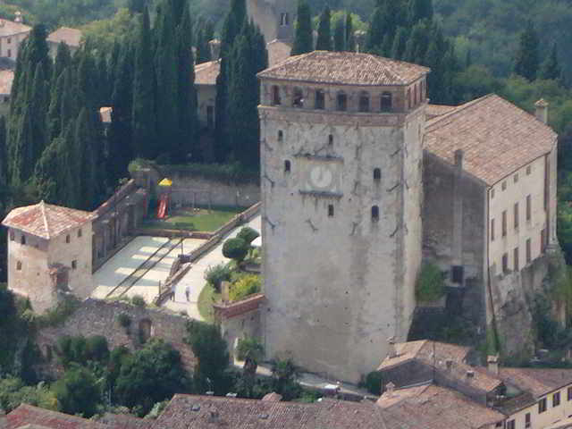 Castle and tower in Asolo