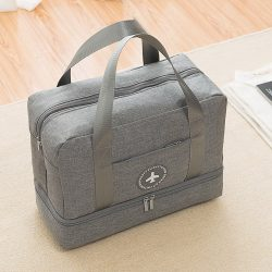 Women's grey colored travel bag