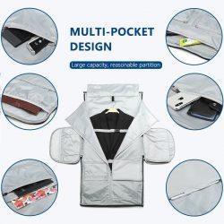 Multi-pocket design grey men's duffle bag