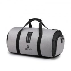 Men's grey waterproof travel bag