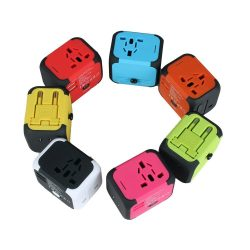Multi-color travel adapters