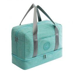 Green waterproof travel handbag