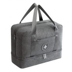 Grey waterproof travel handbag