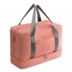 Orange waterproof travel handbag
