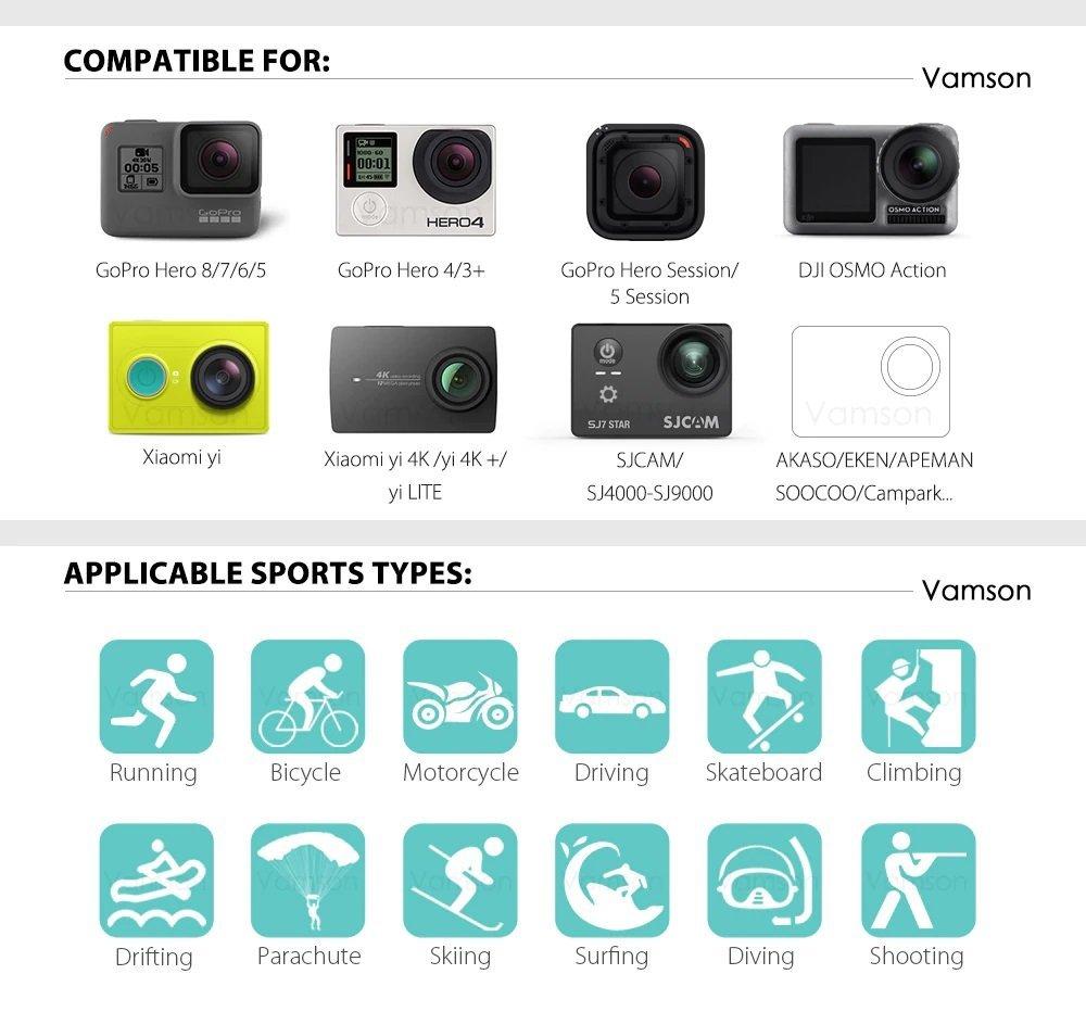 Vamson compatible case for cameras