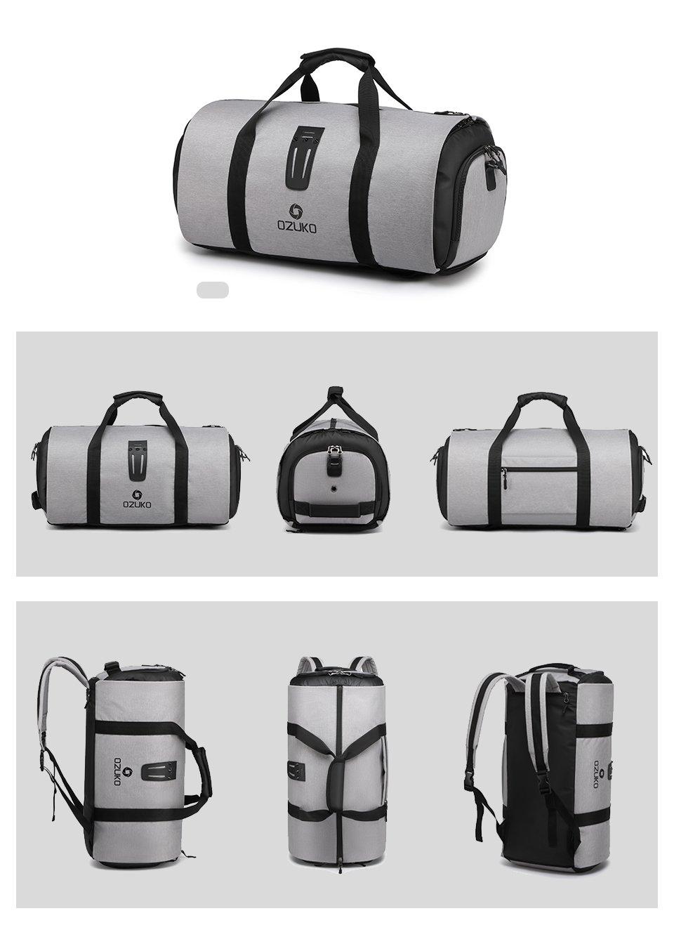 Mens travel bag carry options