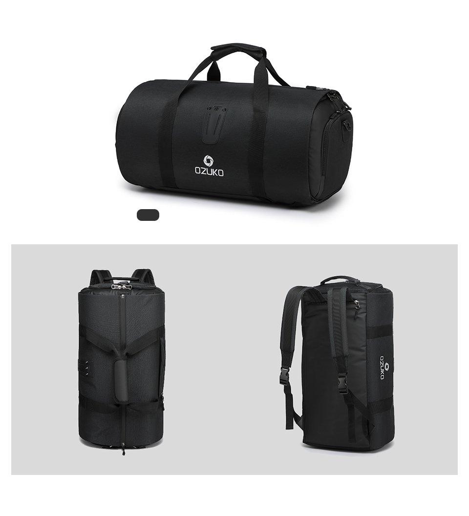 Black travel bag mens