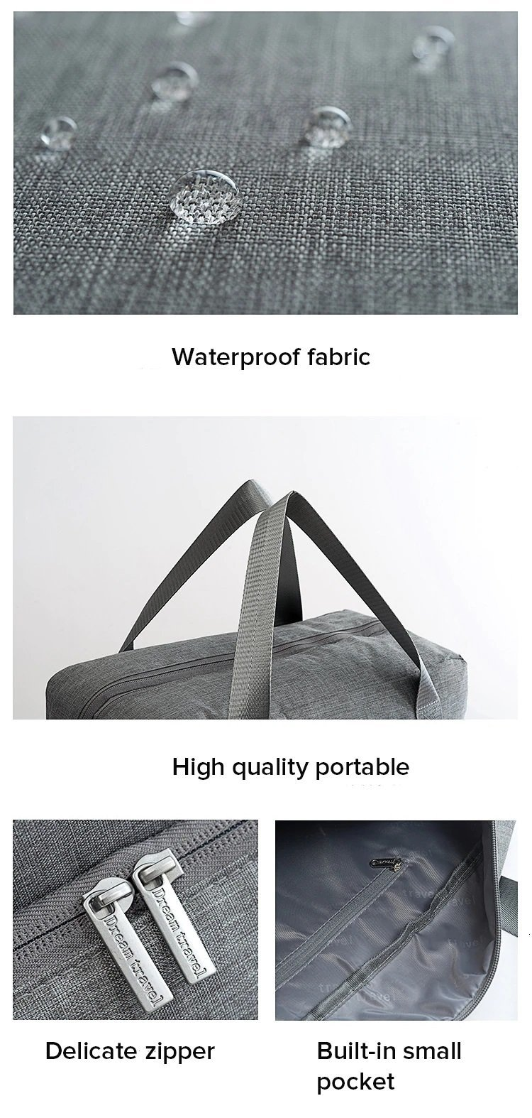 travel bag fabric explanation