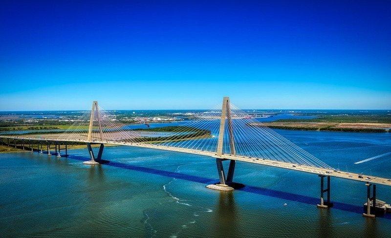 Bridge in a body of water.