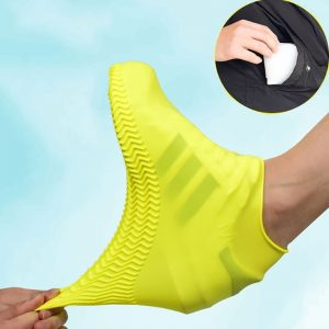 Yellow protective shoe covers
