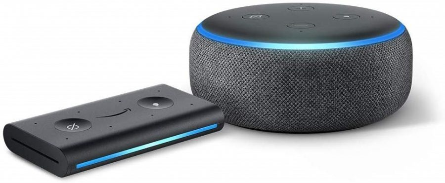 Alexa Echo Dot and Echo Auto devices.
