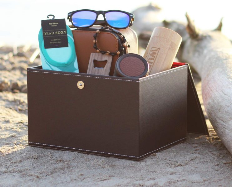 Gentleman's subscription box with presents.